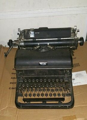 Vintage Royal Touch Control Typewriter With Glass Keys Black
