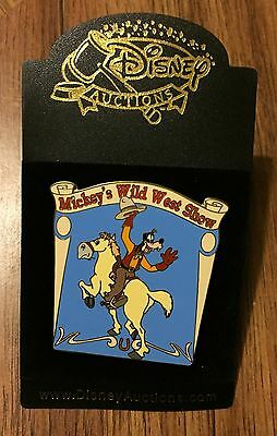 Disney Auctions Mickey's Wild West Show Goofy on Horse Pin LE 500 NEW ON CARD
