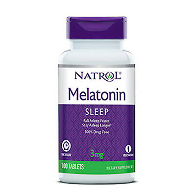 NATROL MELATONINA TIME RELEASE- 3 mg - 100 Compresse - rilascio prolungato
