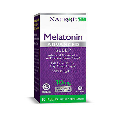 NATROL ADVANCED SLEEP MELATONINA - 10 mg - 60 Compresse