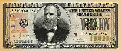 Want to be a Millionaire? Million Dollar bill x 3