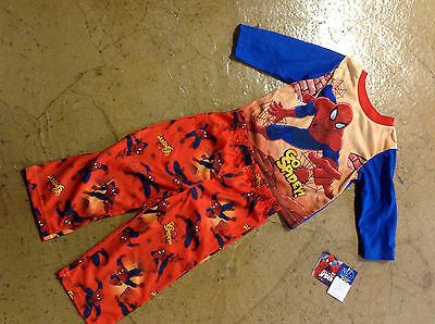 Boy's 2 piece Knit Pajamas 2T Light Weight  SPIDERMAN  $16.99 retail