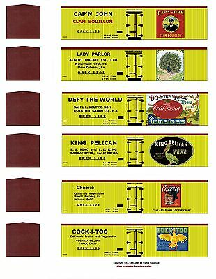 Cannery Row TT scale 24 boxcars, printed reefer sides