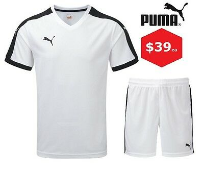 6x Puma Pitch Soccer Kit- Black/White- Includes Shirt & Shorts
