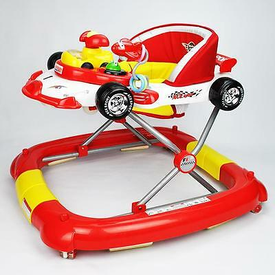 NEW 2-in-1 F1 Racing Car Baby Walker & Rocker