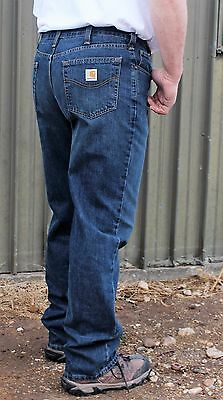 New Jeans Mens Carhartt Holter Relaxed Denim Bedrock Wash Jeans Lots of Sizes