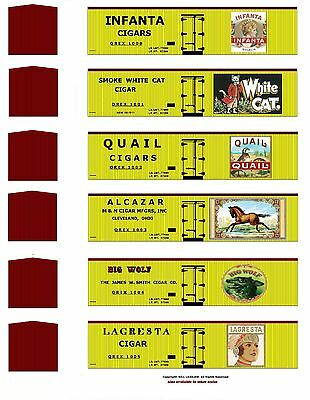 Tobacco Road all 36 boxcars, TT scale printed reefer sides