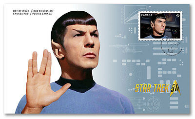 STAR TREK SPOCK LEONARD NIMOY Canada Post First Day Issue Cover Stamp Vulcan FDC
