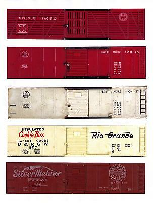 AMERICAN FLYER printed sides for 5 different cars, TT scale set #2