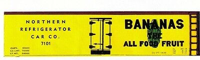 Bananas boxcar, TT scale printed reefer sides