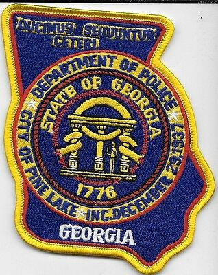 Pine Lake Ga Dept Of Police 1776 Georgia Ppd Lpd Pd State Local Law Enforcement