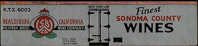 Sonoma Wine boxcar lightly weathered, TT scale printed reefer sides