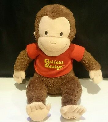 """Curious George Plush Stuffed Animal Red Shirt Hallmark Does Not Talk Or Sing 12"""""""