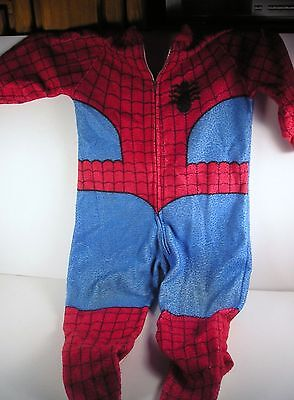 1978 Vintage Marvel Spiderman Footie Pjs Onesie Child Sz 4 Pajamas