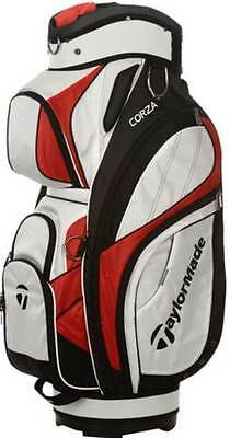Taylormade Corza Golf Bag - White/black/red - New - Value Plus!
