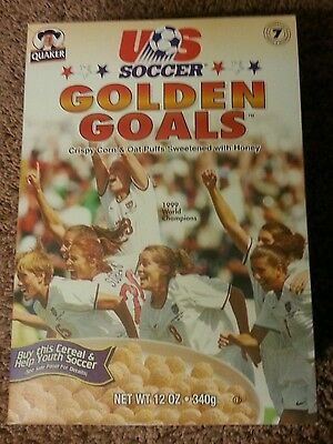 US Women's Soccer GOLDEN GOALS CEREAL Box - 1999 World Cup Champs USA