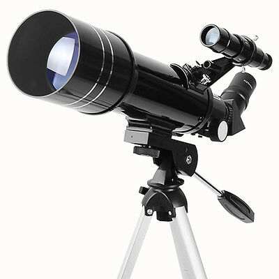 Aomekie 400x70mm Refractor Telescope with Compact Tripod Terrestrial Space Moon
