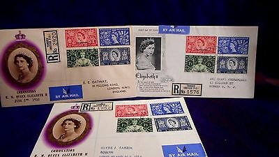 Tangiers 1953 Registered Illustrated Coronation Qeii First Day Cover