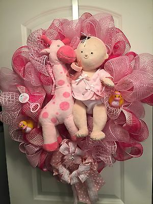 Baby Announcement Wreath Its A Girl
