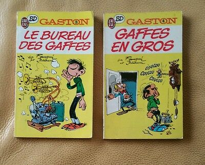 Lot  !!!  GASTON LAGAFFE - tomes 3/4 - collection J'ai Lu BD