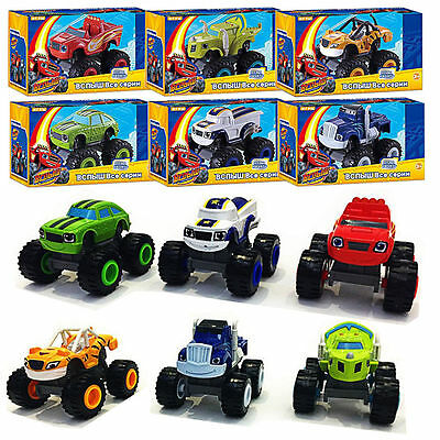 6Pcs Blaze and the Monster Machines Vehicles Diecast Toys Racer Cars Trucks Kid