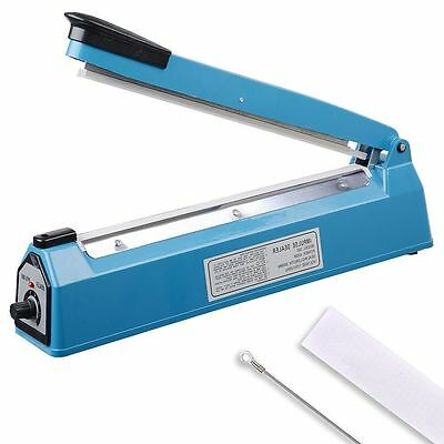 "12"" Heat Sealing Hand Impulse Sealer Machine Poly Element Plastic Sealer 300mm"