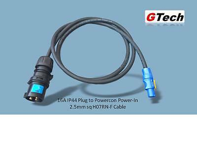 16A Plug to Neutrik Powercon - Select 2.5mm H07RN Cable Length -  EVENT/STAGE