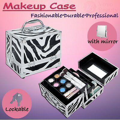 New Portable Makeup Case Professional Cosmetic Beauty Box Storage Mirror Travel