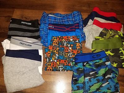 New Boys 10 Pair  Boxer Briefs Size Large Mixed Brands (Open No Package) Lot 2