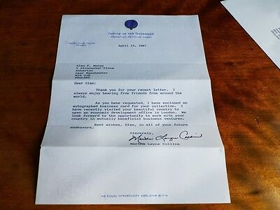 AUTOGRAPH of MARTHA LAYNE COLLINS - American Politician 56th Governor KENTUCKY