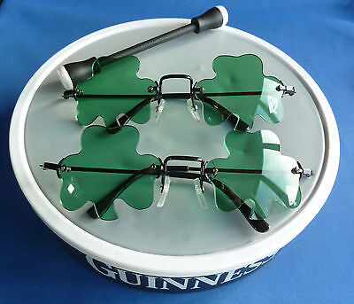 Guinness Bodhran Drum And 2 Pairs Of Clover Sunglasses