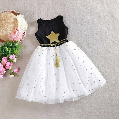 Flower Girls Princess Dress Kids Baby Party Wedding Pageant Tutu Dresses Clothes