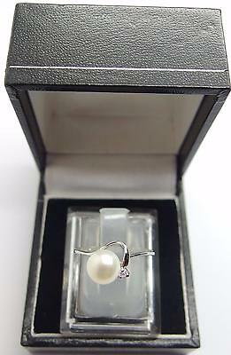 925 Sterling Silver ring Freshwater Cultured Pearl Ring Size M 1/2 UK 6.5 US #E2