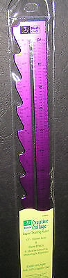 30cm Ruler Pattern Edge Purple Anodised Metal Birch Scrapbooking Craft Draw Wave