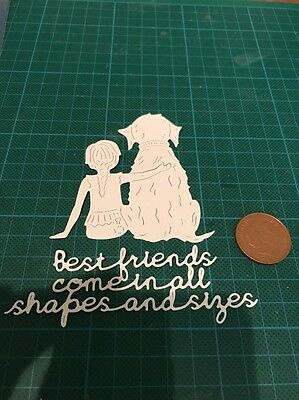 New Tattered Lace Best Friends Die Cut Shapes And Sentiment