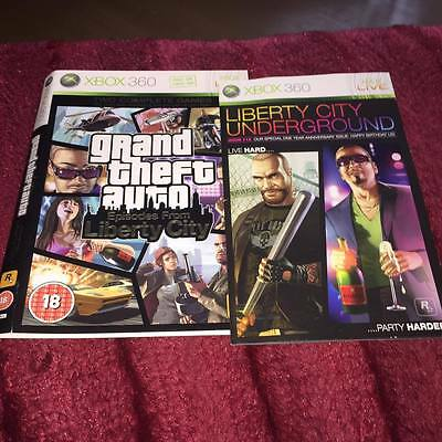 artwork & manual FOR GTA EPISODES FROM LIBERTY CITY  Xbox 360 NO GAME DISC