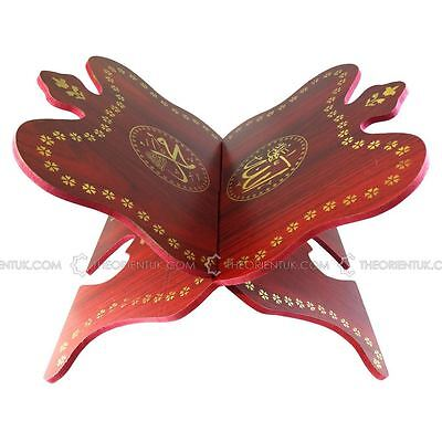 Large Wooden Quran Stand Book Holder Rehal Mahogany Hand Crafted Rawaal Quality