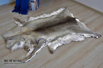 Genuine Scandinavian REINDEER Skin Hides Pelt Rug Leather XXL size Very Soft
