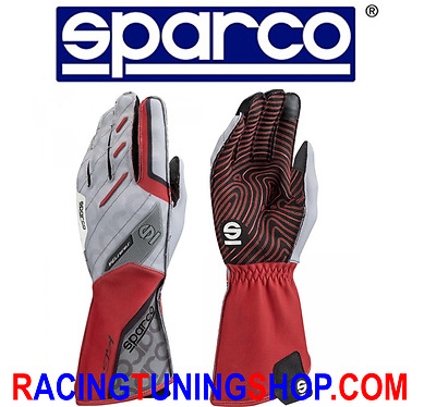 Guanti Kart Sparco 2017 Motion Red  Tg 07 Karting Gloves Handschuhe Red