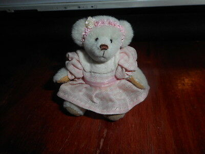 Little Gem teddy bear, ASHLEY 3 inch jointed #1195/3000