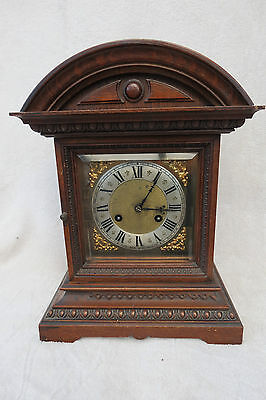 Large Antique Junghans Striking Bracket Clock For Tlc