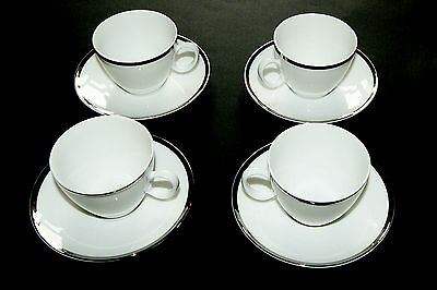 Thomas China Platinum Wide Band  Coffee Cup & Saucer  -  Excellent Condition
