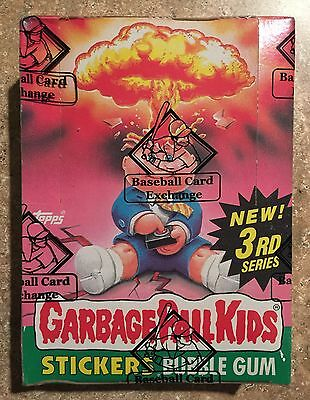 1986 Garbage Pail Kids 3rd Series BBCE AUTHENTICATED, NICE RARE BOX! TWT