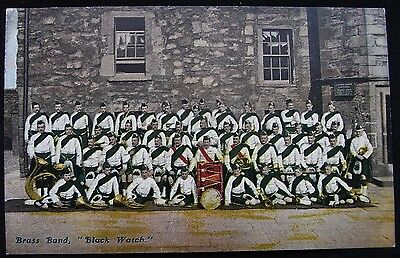 Old Military Postcard - Black Watch Brass Band