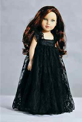 Handmade Black Lace Long Dress fit for 18 Inch American Girl Doll New