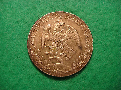 Mexico Silver 8 Reals 1891 With  Chop Marks Very High Grade Aa58