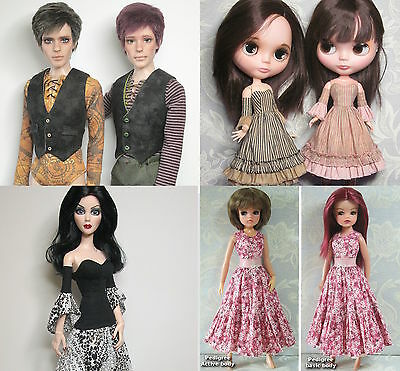Raccoons Rags sewing patterns for fashion dolls CD.  Pick one or more patterns.