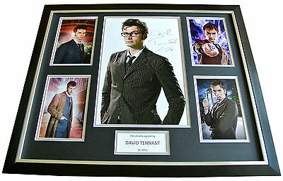 DAVID TENNANT Signed FRAMED Huge Photo Autograph Display DR WHO memorabilia COA