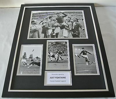 Just Fontaine SIGNED FRAMED Huge Photo Autograph display France Football & COA