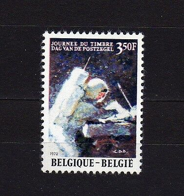 Belgium #824 Mnh Stamp Day (Astronaut On The Moon)